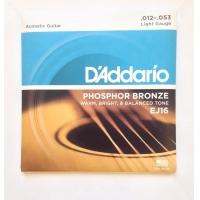 Струны для акустической гитары Daddario EJ16