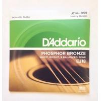 Струны для акустической гитары Daddario EJ18
