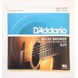Струны для акустической гитары Daddario EJ11