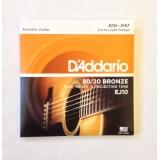 Струны для акустической гитары Daddario EJ10